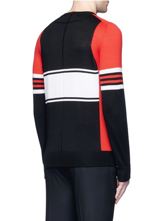 Back View - Click To Enlarge - Givenchy - Colourblock stripe Merino wool sweater