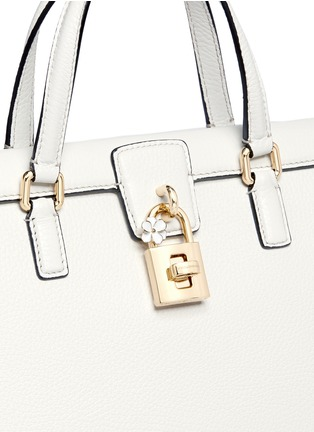 Dolce & Gabbana - 'Dolce' floral padlock leather bag
