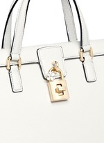 'Dolce' floral padlock leather bag