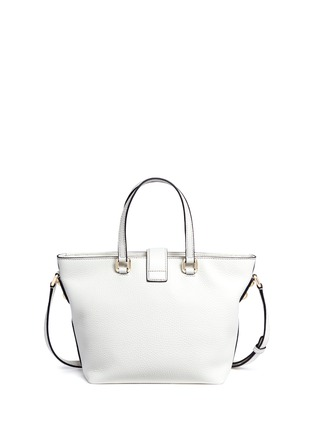 Back View - Click To Enlarge - Dolce & Gabbana - 'Rosaria' mini grainy leather zip tote