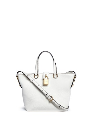 Main View - Click To Enlarge - Dolce & Gabbana - 'Rosaria' mini grainy leather zip tote