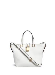 Dolce & Gabbana'Rosaria' mini grainy leather zip tote