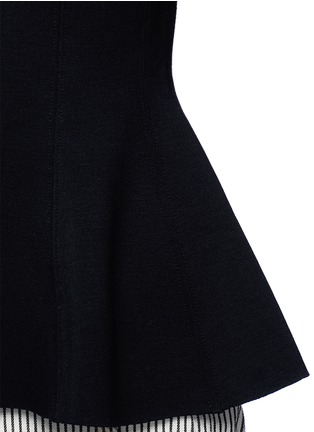 Detail View - Click To Enlarge - T By Alexander Wang - Double knit jersey flared top