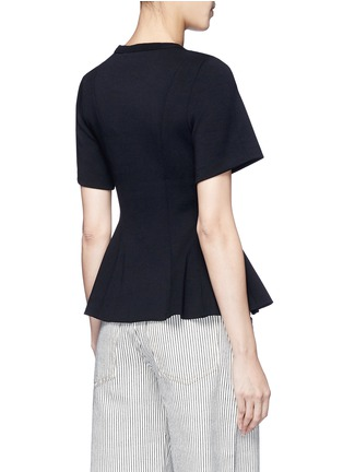 Back View - Click To Enlarge - T By Alexander Wang - Double knit jersey flared top