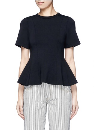Main View - Click To Enlarge - T By Alexander Wang - Double knit jersey flared top