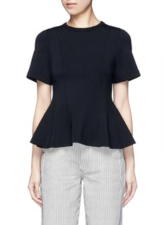 T BY ALEXANDER WANGDouble knit jersey flare top