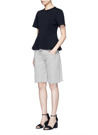 Figure View - Click To Enlarge - T By Alexander Wang - Double knit jersey flared top