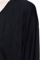 Enzyme wash circular dip hem sweatshirt