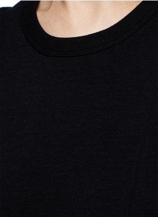 Detail View - Click To Enlarge - T By Alexander Wang - Double knit jersey flare tank dress