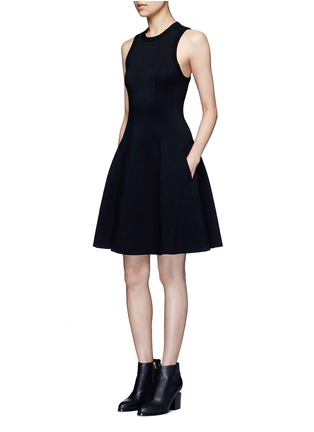 Figure View - Click To Enlarge - T By Alexander Wang - Double knit jersey flare tank dress