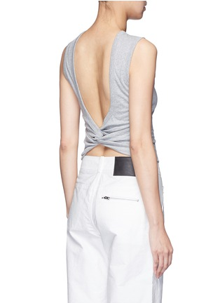 Back View - Click To Enlarge - T By Alexander Wang - Open twist back tank top