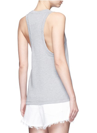 Back View - Click To Enlarge - T By Alexander Wang - Enzyme wash French terry racerback tank top