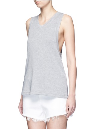 Front View - Click To Enlarge - T By Alexander Wang - Enzyme wash French terry racerback tank top