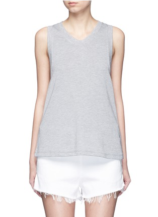 Main View - Click To Enlarge - T By Alexander Wang - Enzyme wash French terry racerback tank top
