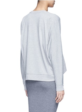 Back View - Click To Enlarge - T By Alexander Wang - Enzyme wash circular dip hem sweatshirt