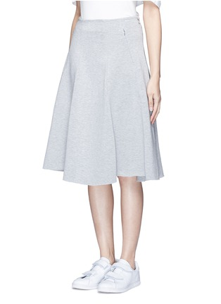 Front View - Click To Enlarge - T By Alexander Wang - Double knit jersey circle skirt
