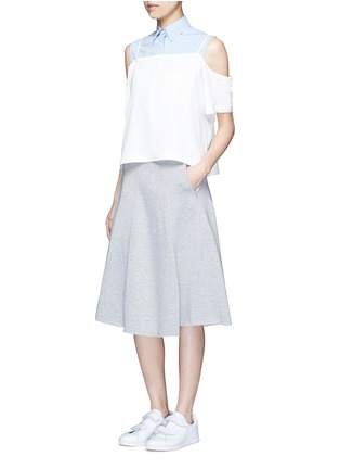 Figure View - Click To Enlarge - T By Alexander Wang - Double knit jersey circle skirt