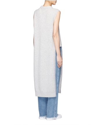 Back View - Click To Enlarge - T By Alexander Wang - Wool-cashmere long dickie sweater vest