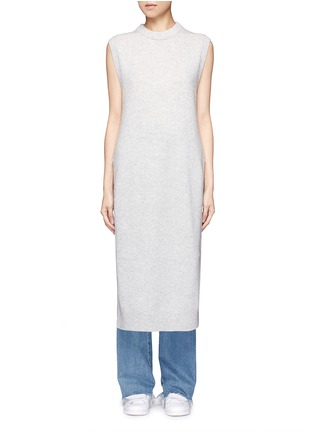Main View - Click To Enlarge - T By Alexander Wang - Wool-cashmere long dickie sweater vest