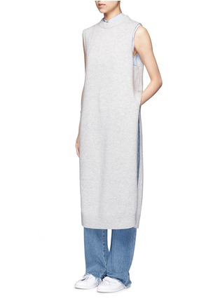 Figure View - Click To Enlarge - T By Alexander Wang - Wool-cashmere long dickie sweater vest