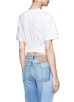 Back View - Click To Enlarge - T By Alexander Wang - Twist front cropped T-shirt