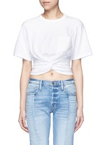 Twist front cropped T-shirt