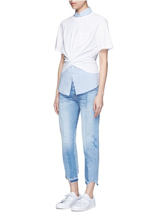 Figure View - Click To Enlarge - T By Alexander Wang - Twist front cropped T-shirt
