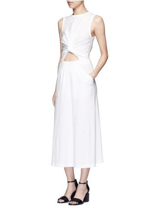 Figure View - Click To Enlarge - T By Alexander Wang - Twist cutout front midi tank dress