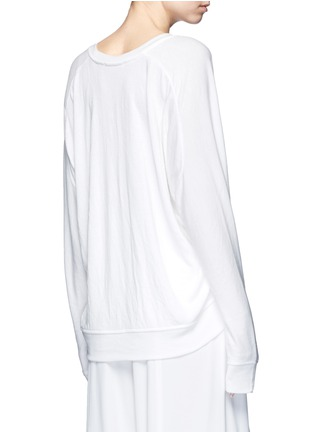 Back View - Click To Enlarge - T By Alexander Wang - Dolman sleeve enzyme wash French terry sweatshirt