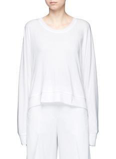 T By Alexander WangDolman sleeve enzyme wash French terry sweatshirt