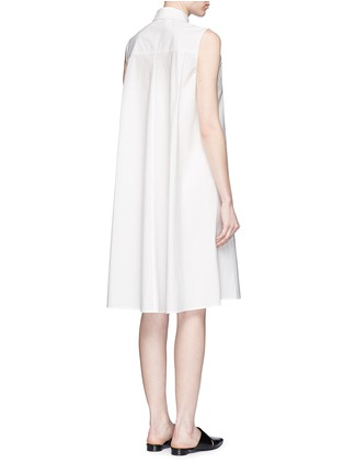 Back View - Click To Enlarge - T By Alexander Wang - Trapeze back poplin shirt dress