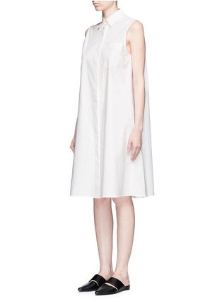 Front View - Click To Enlarge - T By Alexander Wang - Trapeze back poplin shirt dress