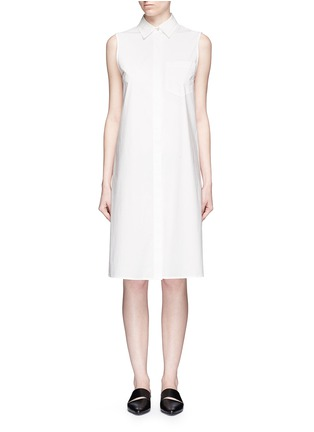 Main View - Click To Enlarge - T By Alexander Wang - Trapeze back poplin shirt dress