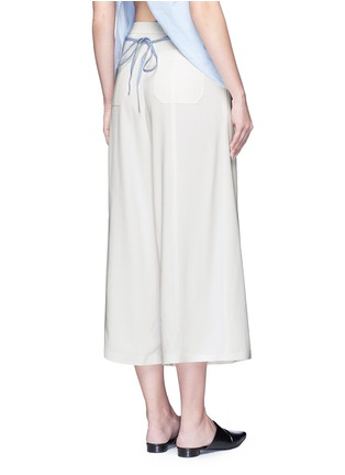 Back View - Click To Enlarge - T By Alexander Wang - Pleat front crepe culottes