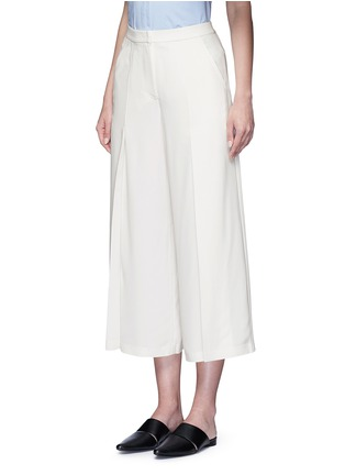 Front View - Click To Enlarge - T By Alexander Wang - Pleat front crepe culottes