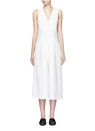 Main View - Click To Enlarge - T By Alexander Wang - V-neck culottes jumpsuit