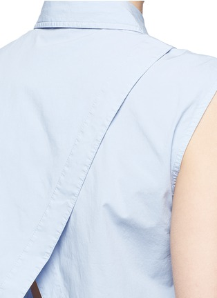 Detail View - Click To Enlarge - T By Alexander Wang - Surplice back poplin sleeveless shirt