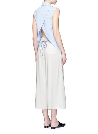 Figure View - Click To Enlarge - T By Alexander Wang - Surplice back poplin sleeveless shirt