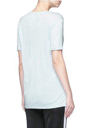 Back View - Click To Enlarge - T By Alexander Wang - Pocket rayon jersey T-shirt