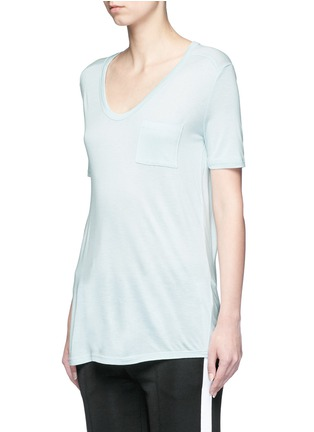 Front View - Click To Enlarge - T By Alexander Wang - Pocket rayon jersey T-shirt