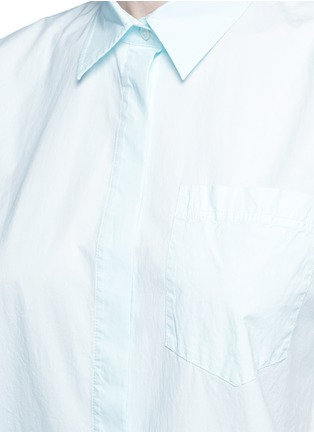 Detail View - Click To Enlarge - T By Alexander Wang - Trapeze back poplin shirt