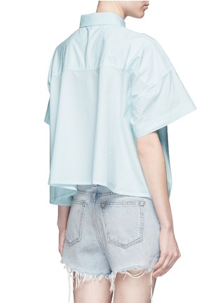 Back View - Click To Enlarge - T By Alexander Wang - Trapeze back poplin shirt