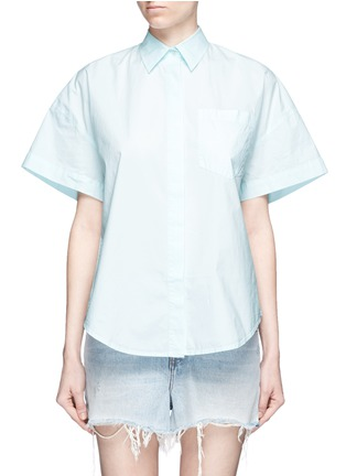Main View - Click To Enlarge - T By Alexander Wang - Trapeze back poplin shirt