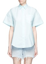 Trapeze back poplin shirt