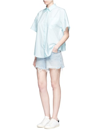 Figure View - Click To Enlarge - T By Alexander Wang - Trapeze back poplin shirt