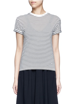 T By Alexander Wang - Stripe superfine cotton T-shirt