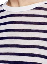 Stripe slub jersey T-shirt