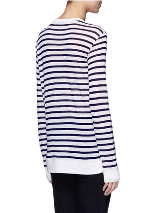 Back View - Click To Enlarge - T By Alexander Wang - Stripe slub jersey T-shirt