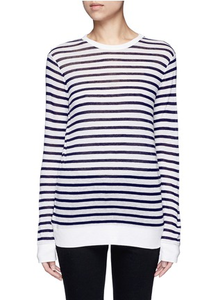 Main View - Click To Enlarge - T By Alexander Wang - Stripe slub jersey T-shirt