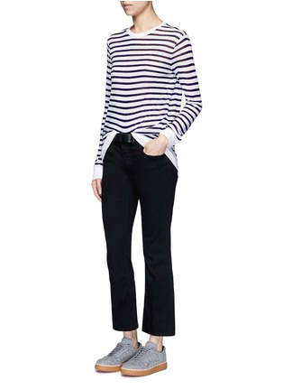 Figure View - Click To Enlarge - T By Alexander Wang - Stripe slub jersey T-shirt